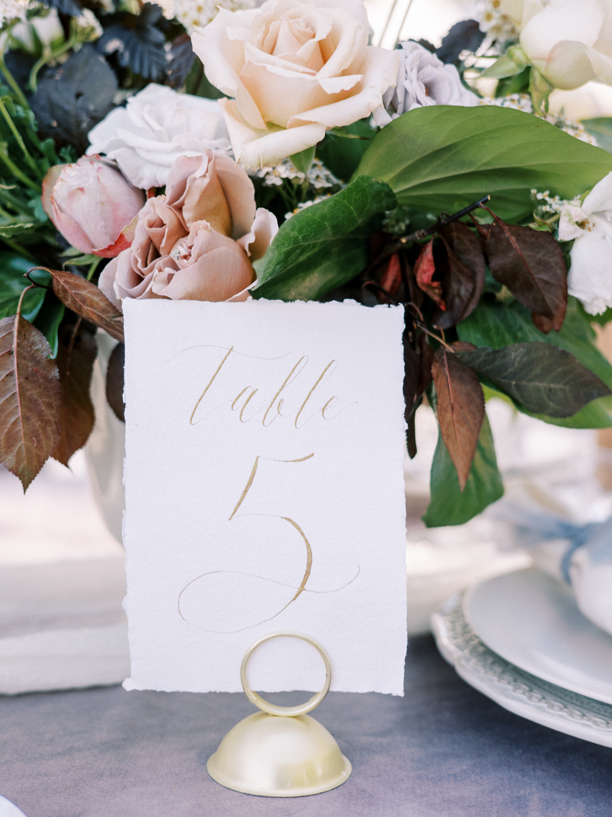 scripted table number for wedding reception