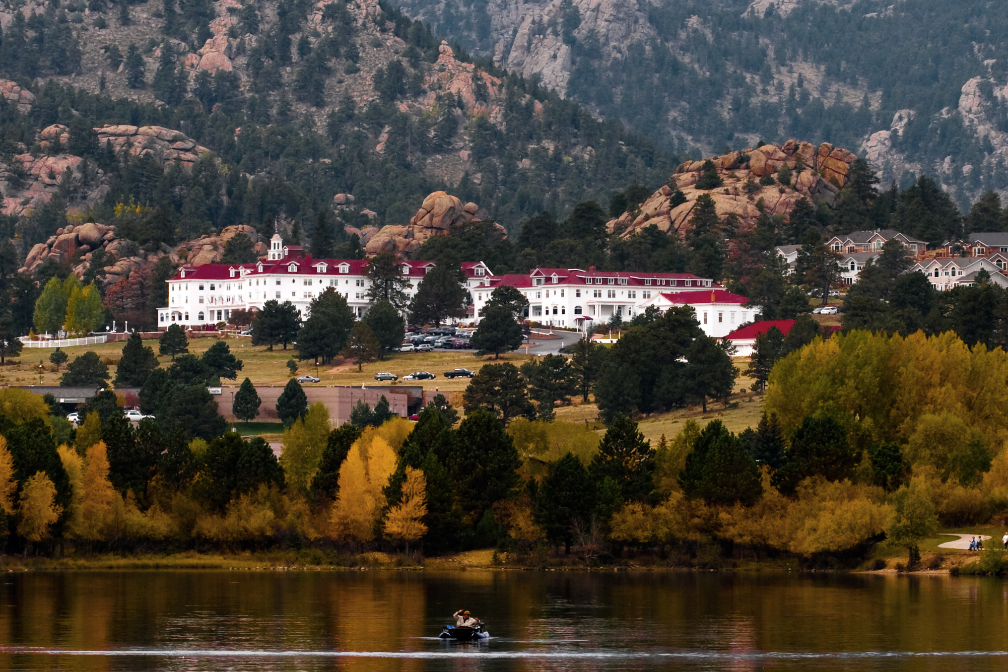 the stanley hotel in fall time