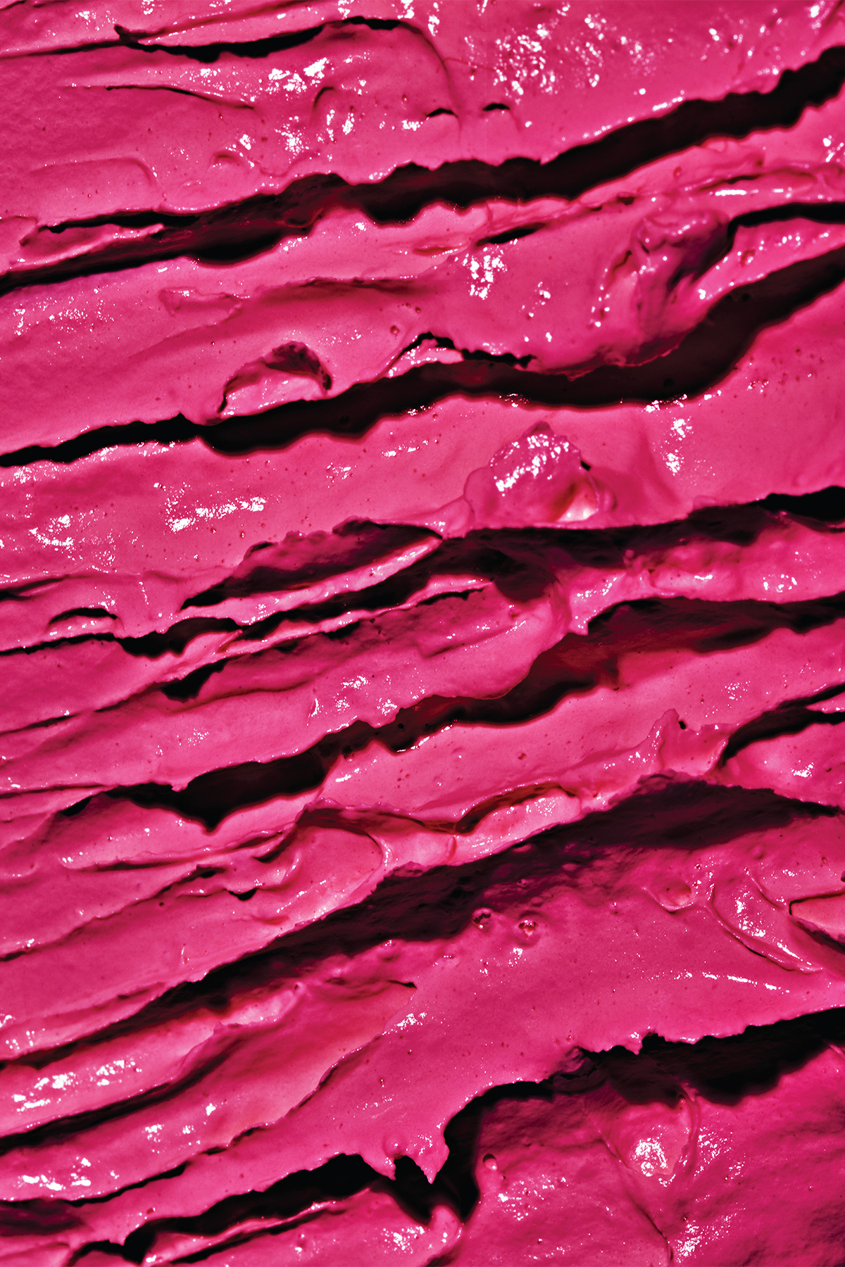 close up of pink beauty cream