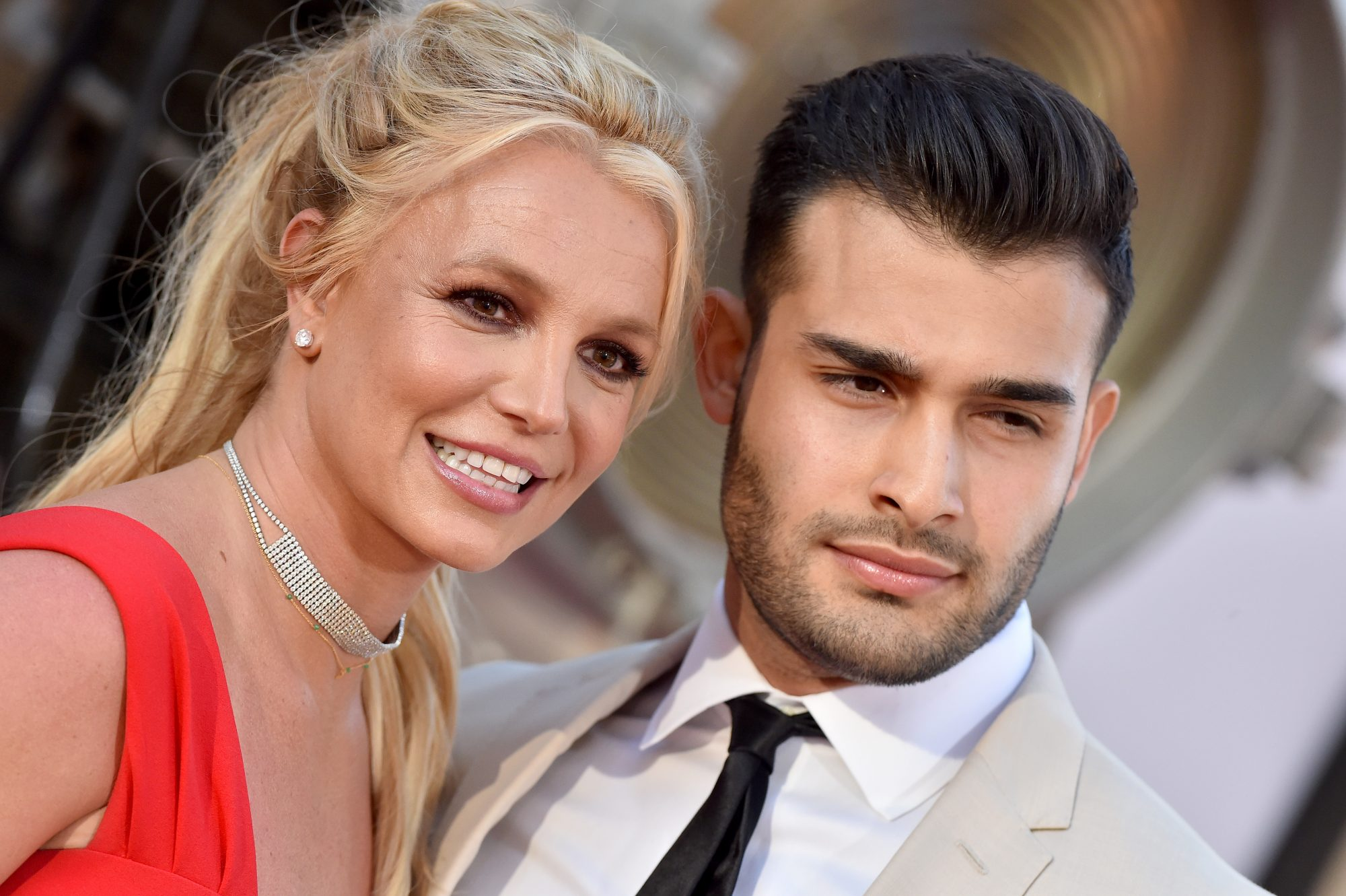 """Britney Spears and Sam Asghari at """"Once Upon a Time ... in Hollywood"""" premiere"""