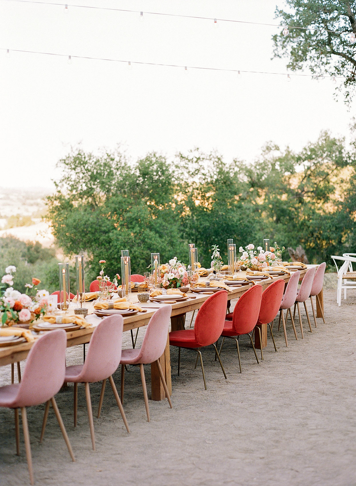 Molly & Garrett Real Wedding Reception Table and Chairs