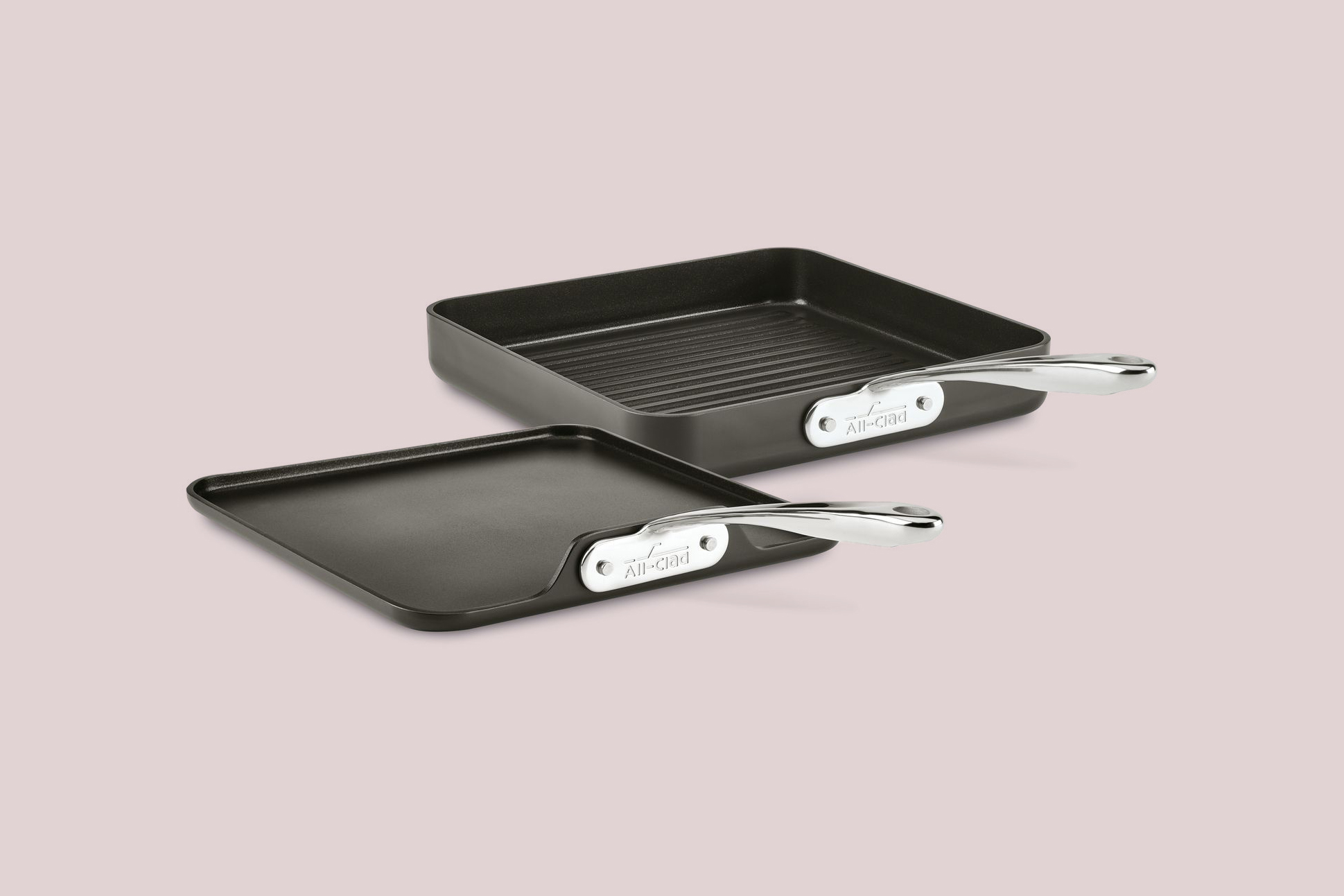 All-Clad Two-Piece Stacking Grill and Griddle Set