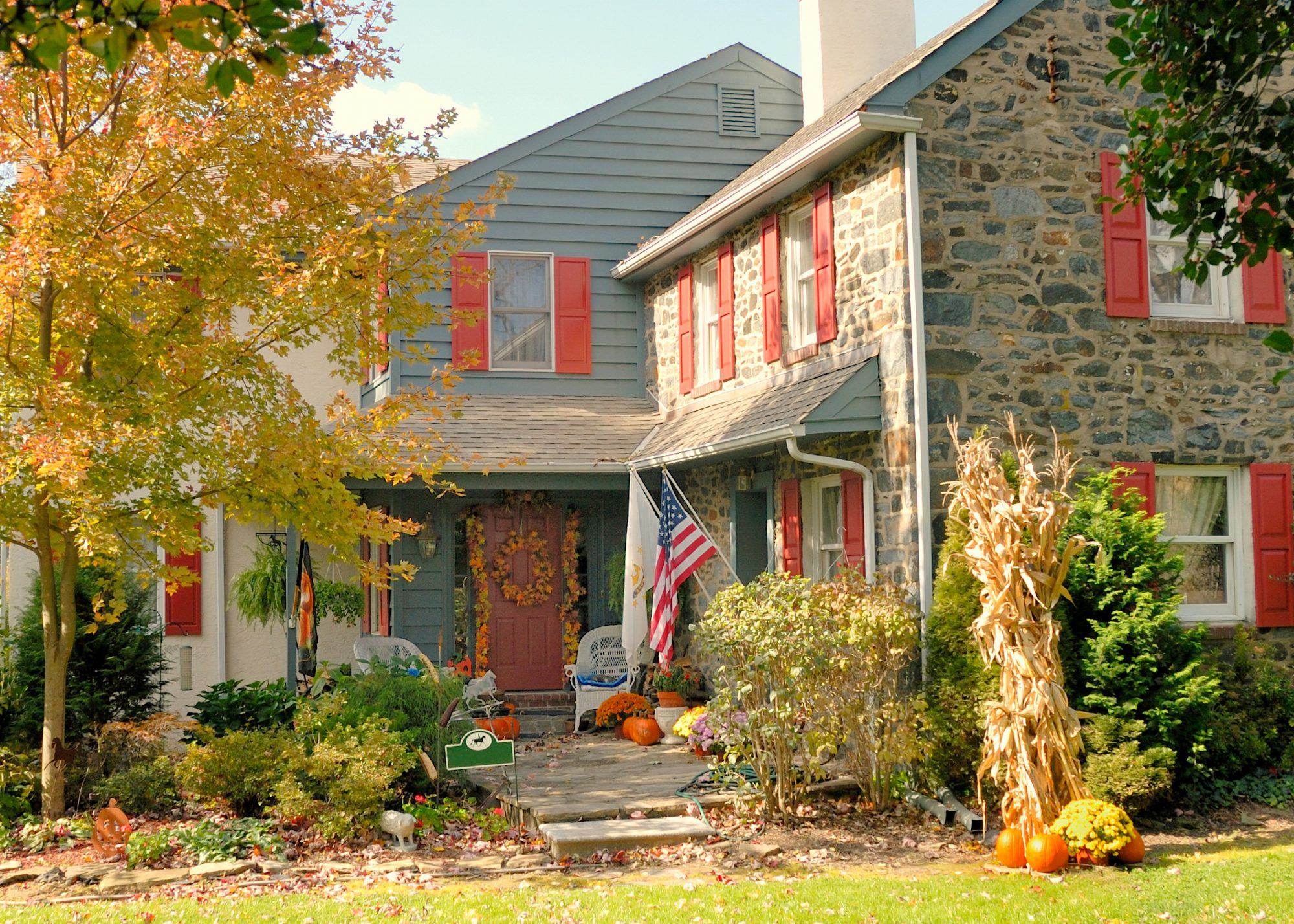 fall home with seasonal decorations