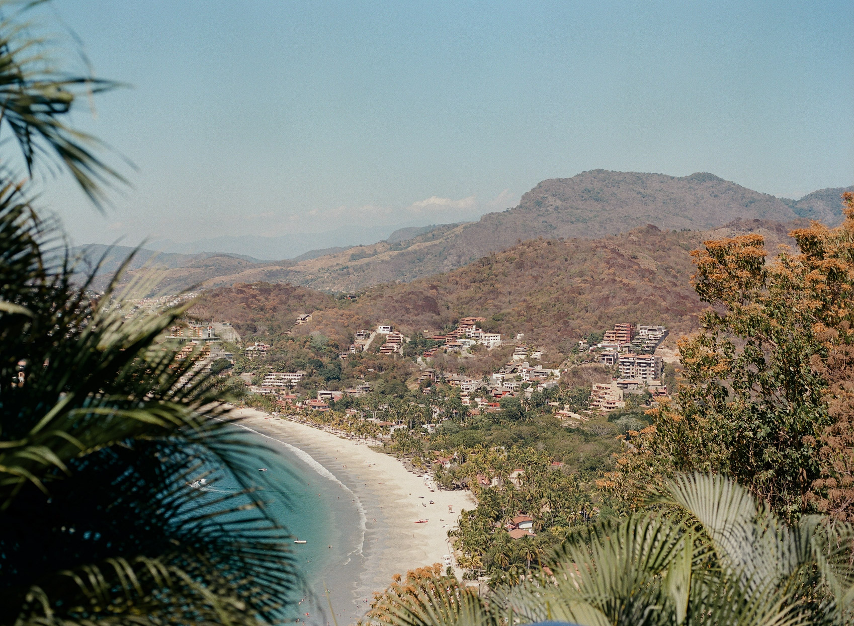 overhead view of Mexican coast wedding location