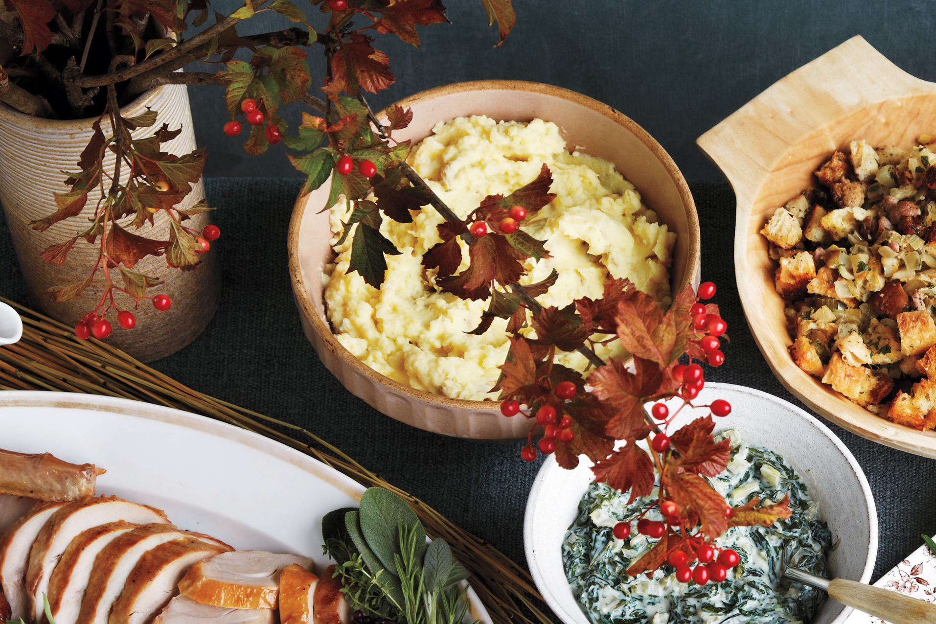 Olive-Oil Mashed Potatoes with Garlic and Sage