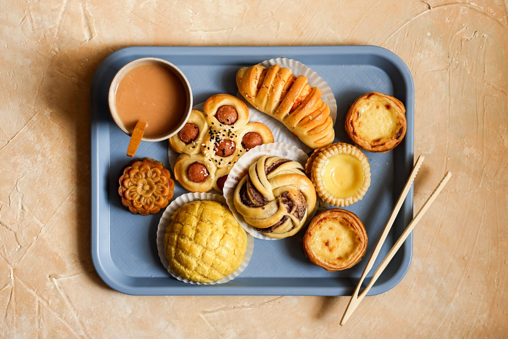 baked goods on food tray