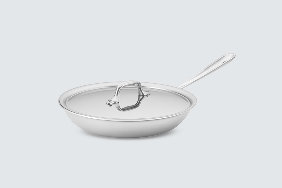 All-Clad D3 Tri-Ply Stainless-Steel Traditional Covered Fry Pan