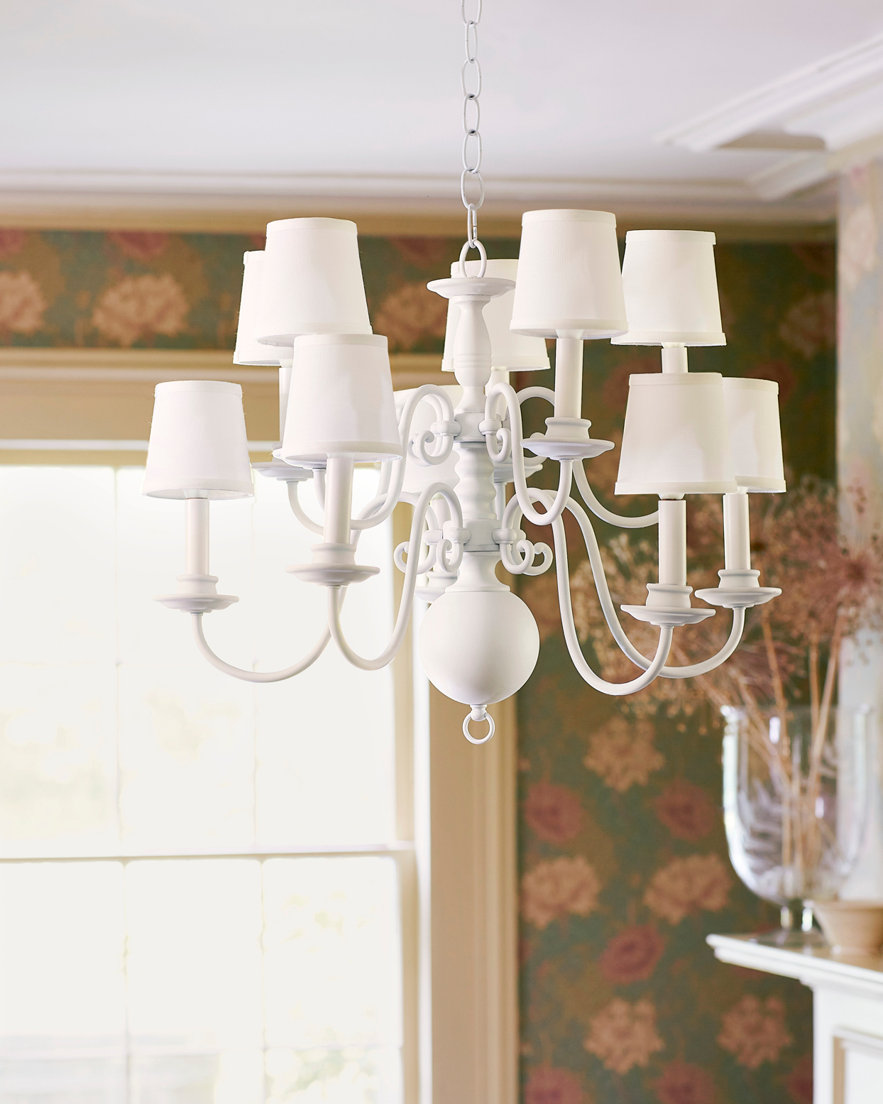 traditional white chandelier
