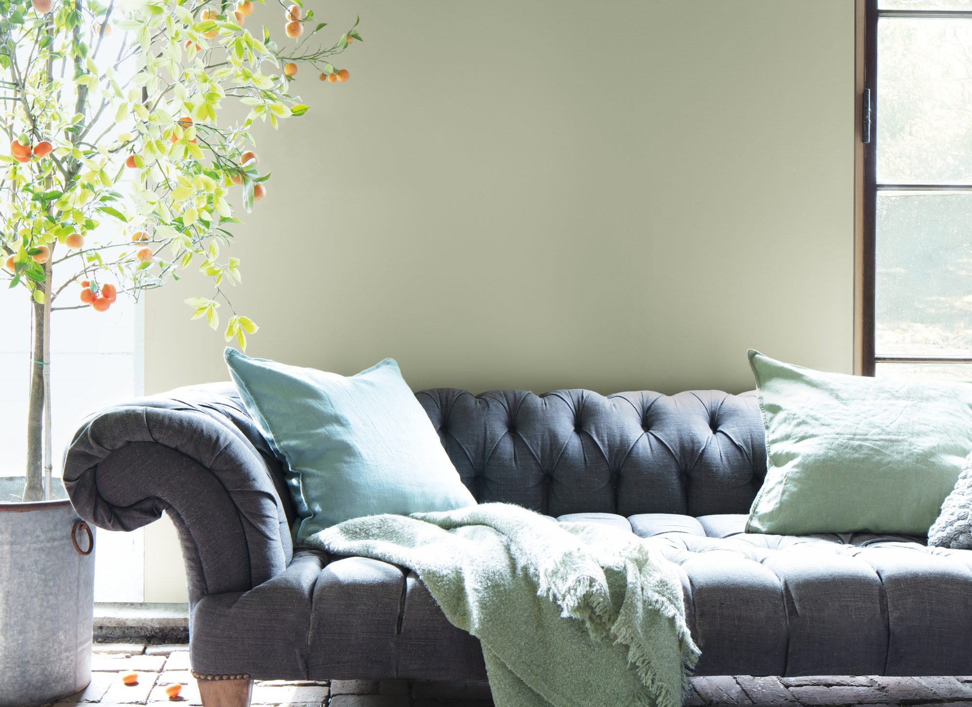 benjamin moore color of the year paint living room wall
