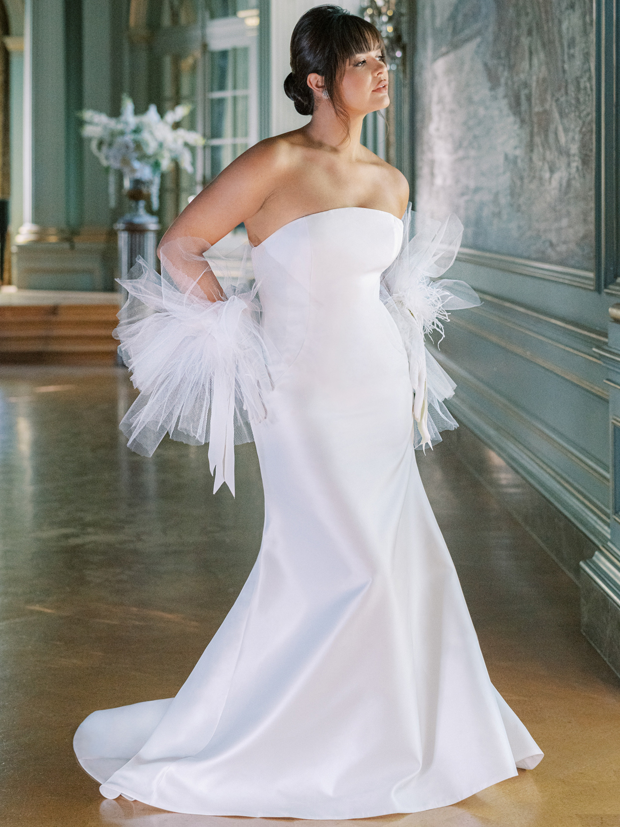 Anne Barge strapless wedding dress fall 2022