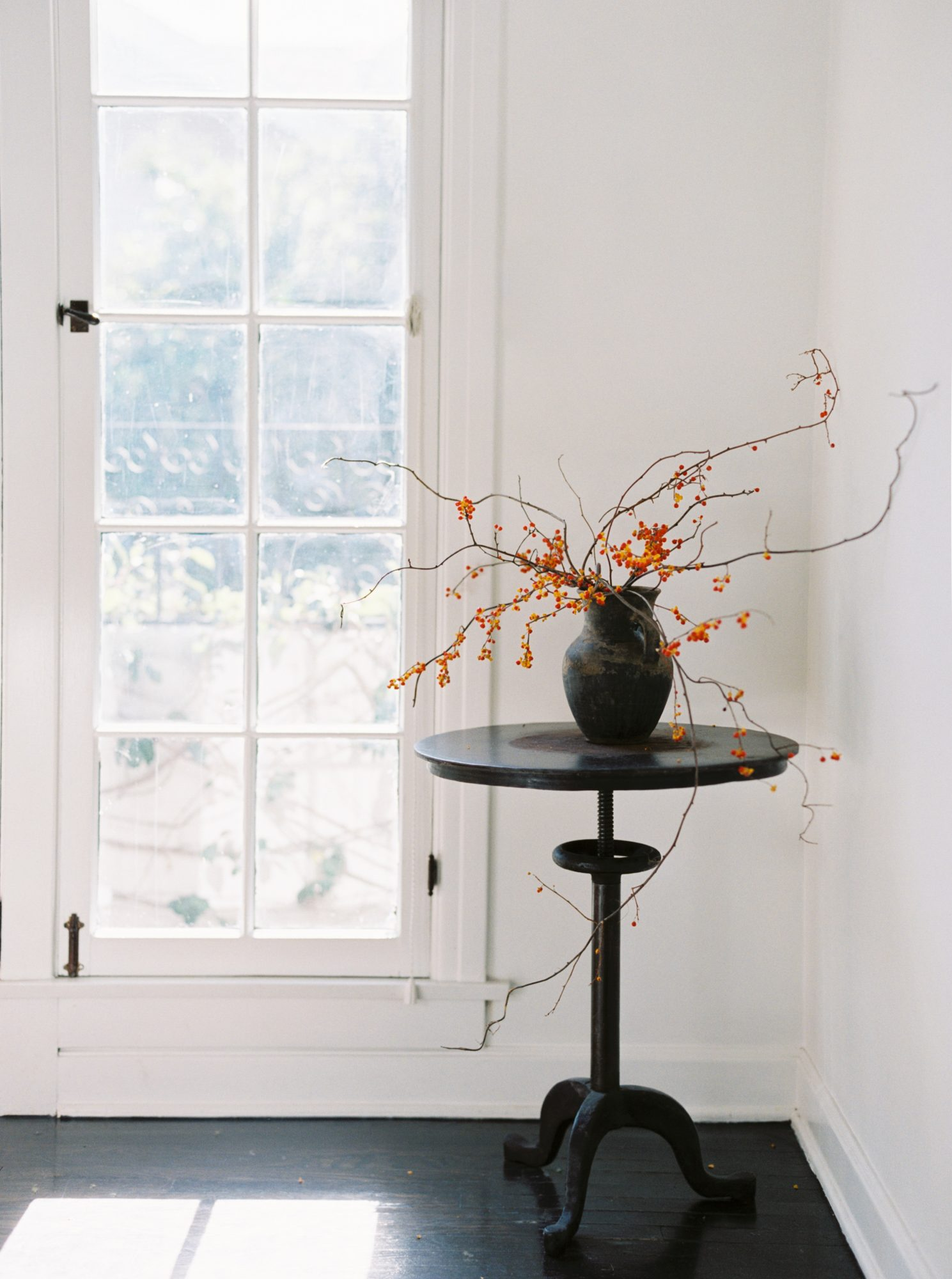 transitional foliage branches in vases