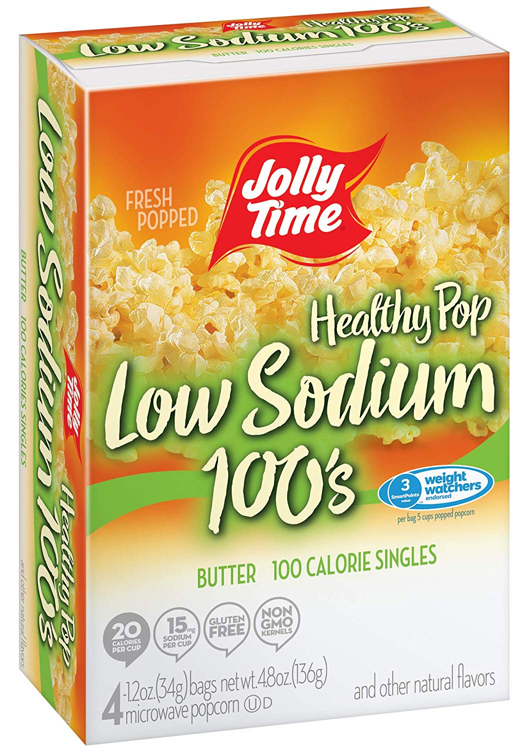 Jolly Time Healthy Pop Low-Sodium 100's Microwave Popcorn