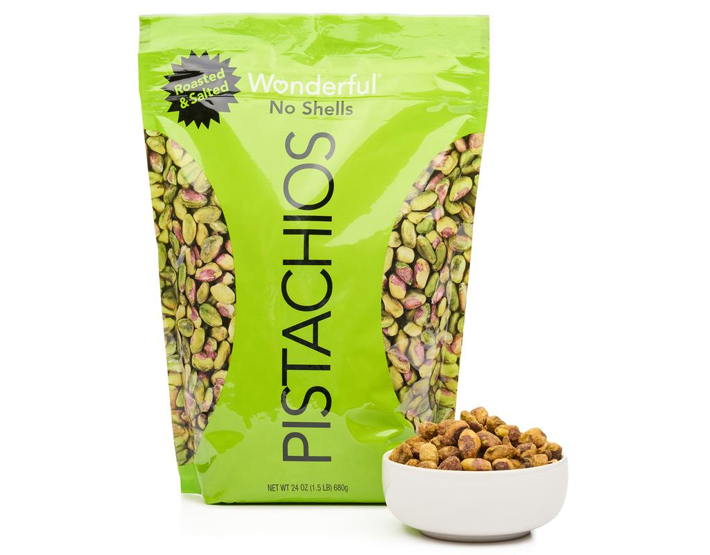 Roasted and Salted No-Shell Wonderful Pistachios