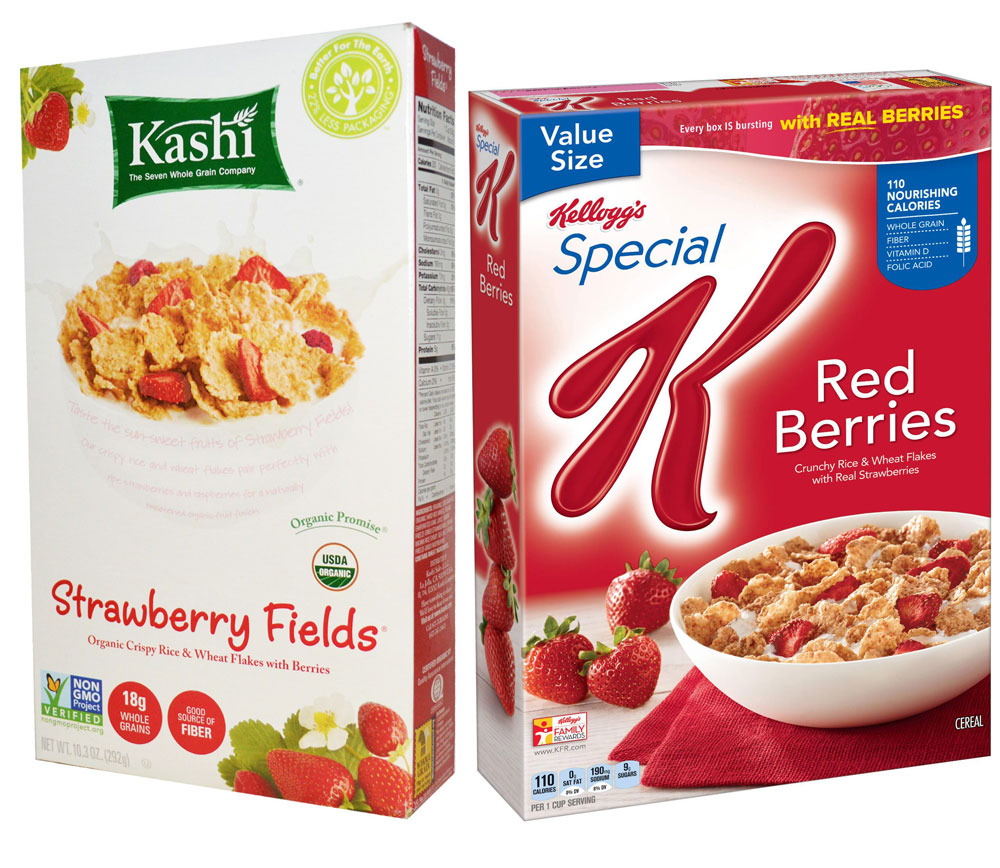 Kashi Organic Promise Strawberry Fields vs. Special K Red Berries