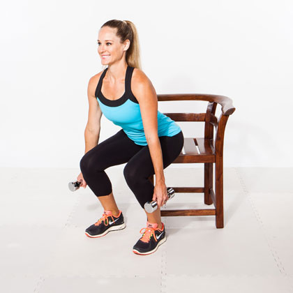 1: The Chair Squat
