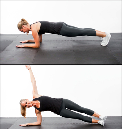 Three-Way Plank