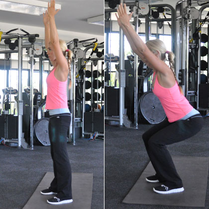 Squat with Arms Overhead