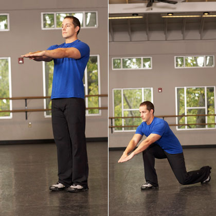 Lunge with Arm Reach
