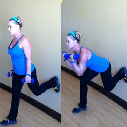 Single-Leg Wall Lunges