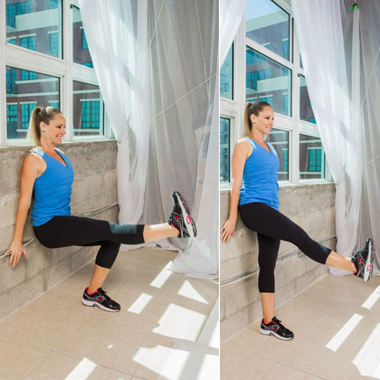 Single-Legged Wall Squats