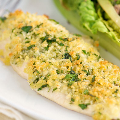 Lime-Macadamia Crusted Chicken