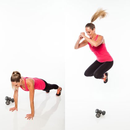 HIIT Interval: Squat Thrust Jump Over