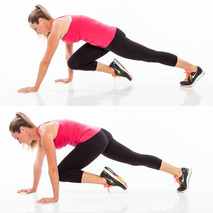 HIIT Interval: Crawling Climbers