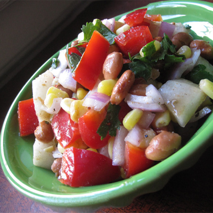 Jicama, Corn, and Pinto Bean Salad