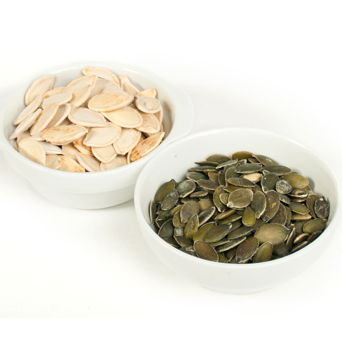 Green Pumpkin Seeds Are the Naked Version of White Pumpkin Seeds