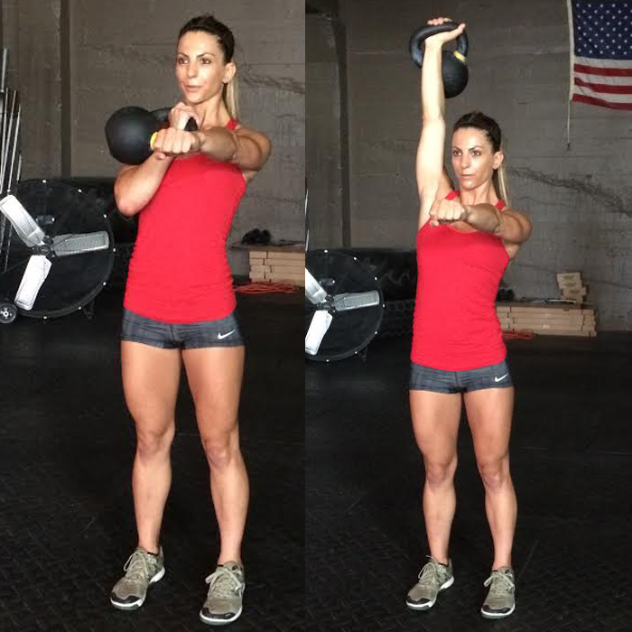 Single-Arm Swing With Clean and Press