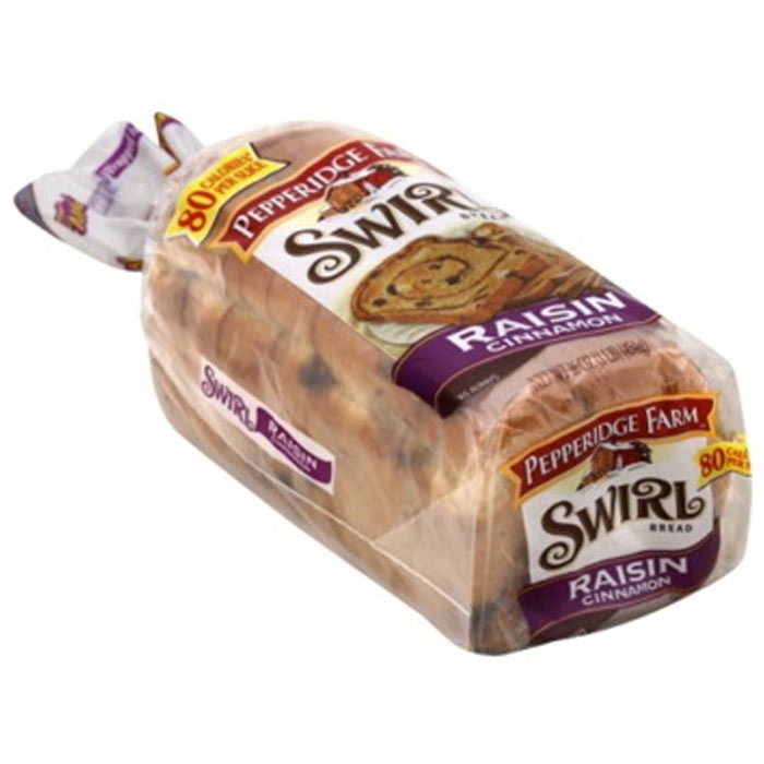 Best Snack Bread: Pepperidge Farm Swirl 100% Whole-Wheat Cinnamon with Raisins