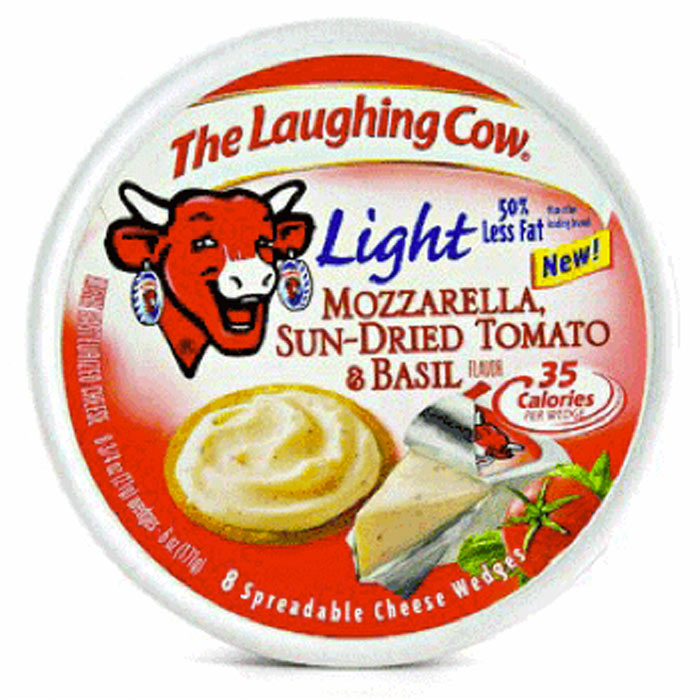 Best Spreadable Cheese: The Laughing Cow Light Mozzarella, Sun-Dried Tomato & Basil
