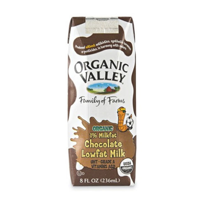 Best Chocolate Milk: Organic Valley Lowfat Chocolate Milk