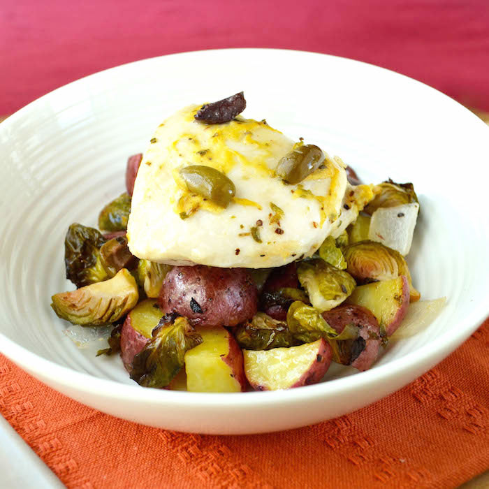 Roasted Brussels Sprouts, Chicken, and Potatoes