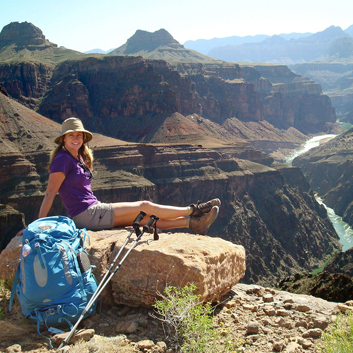 Backpack in the Grand Canyon