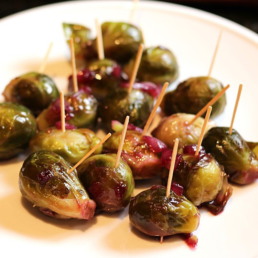 Brussels Sprouts with Grape-Honey Glaze