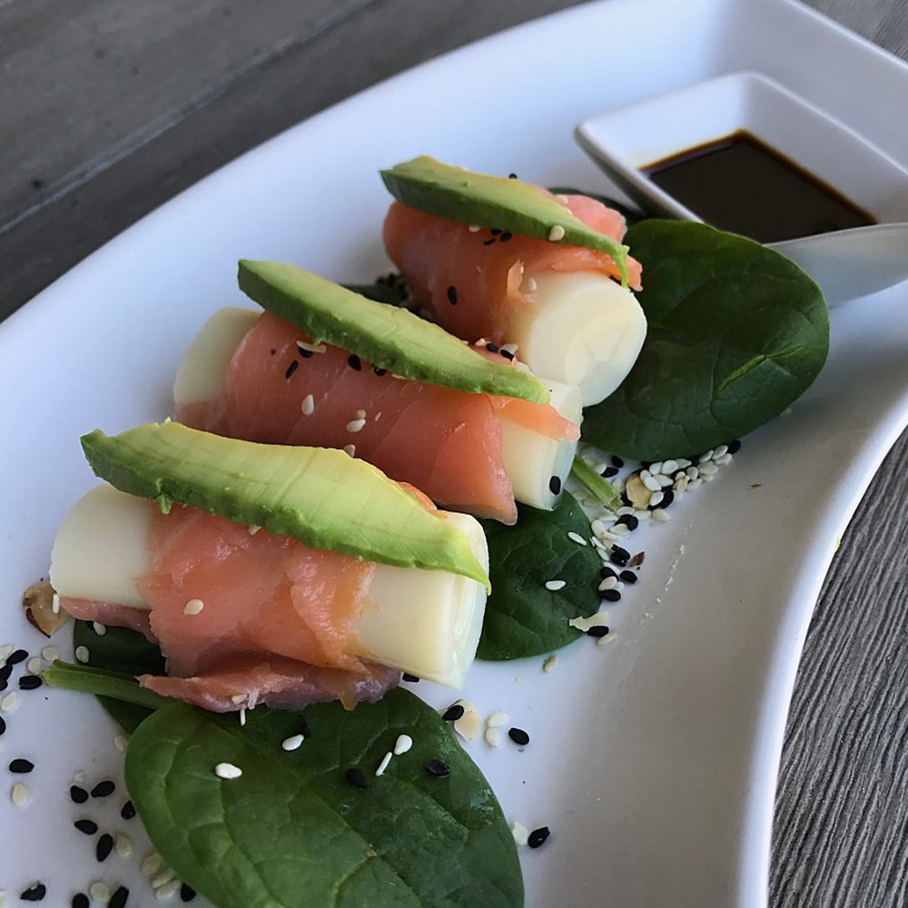 Salmon-Wrapped Hearts of Palm