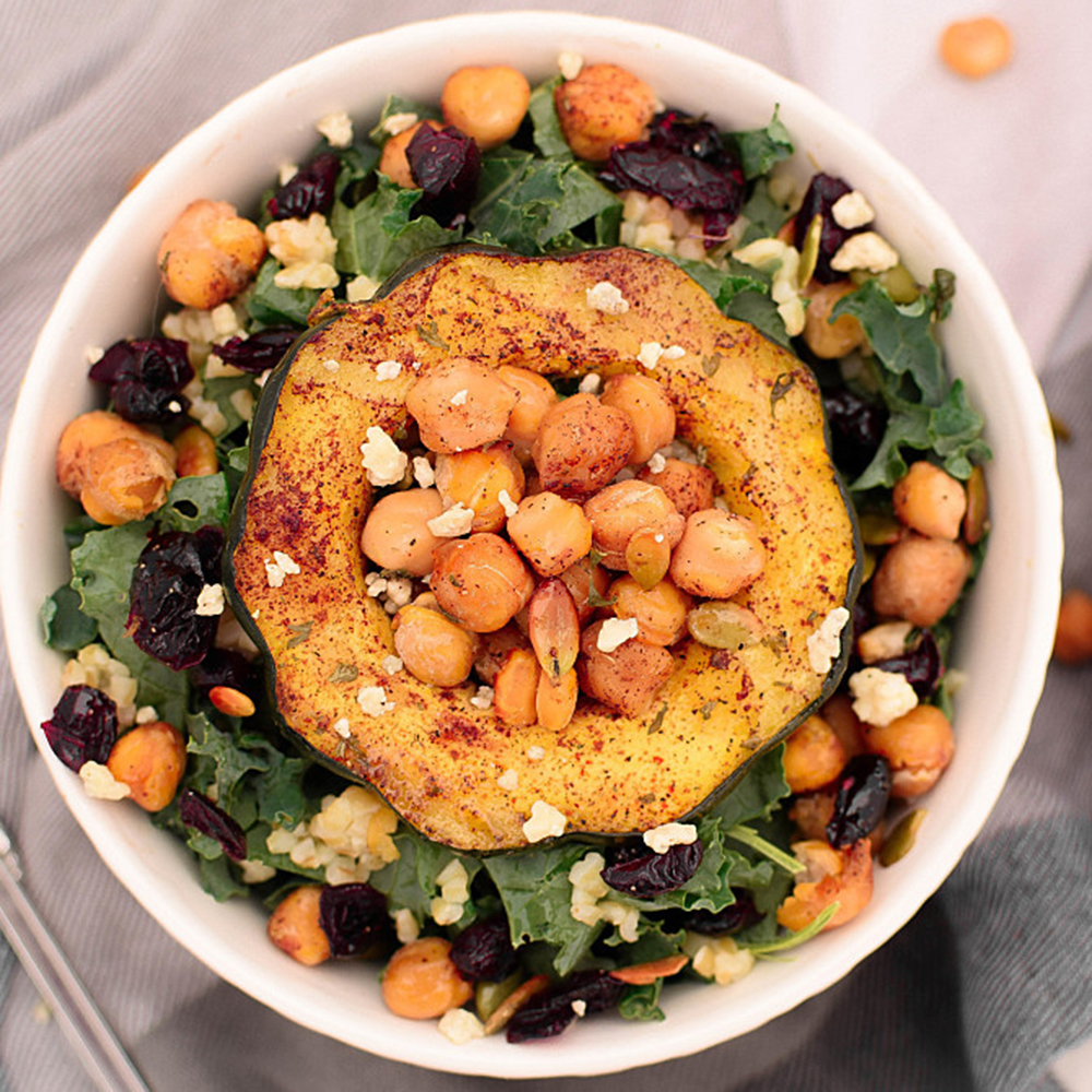 Winter Squash and Kale Power Bowl