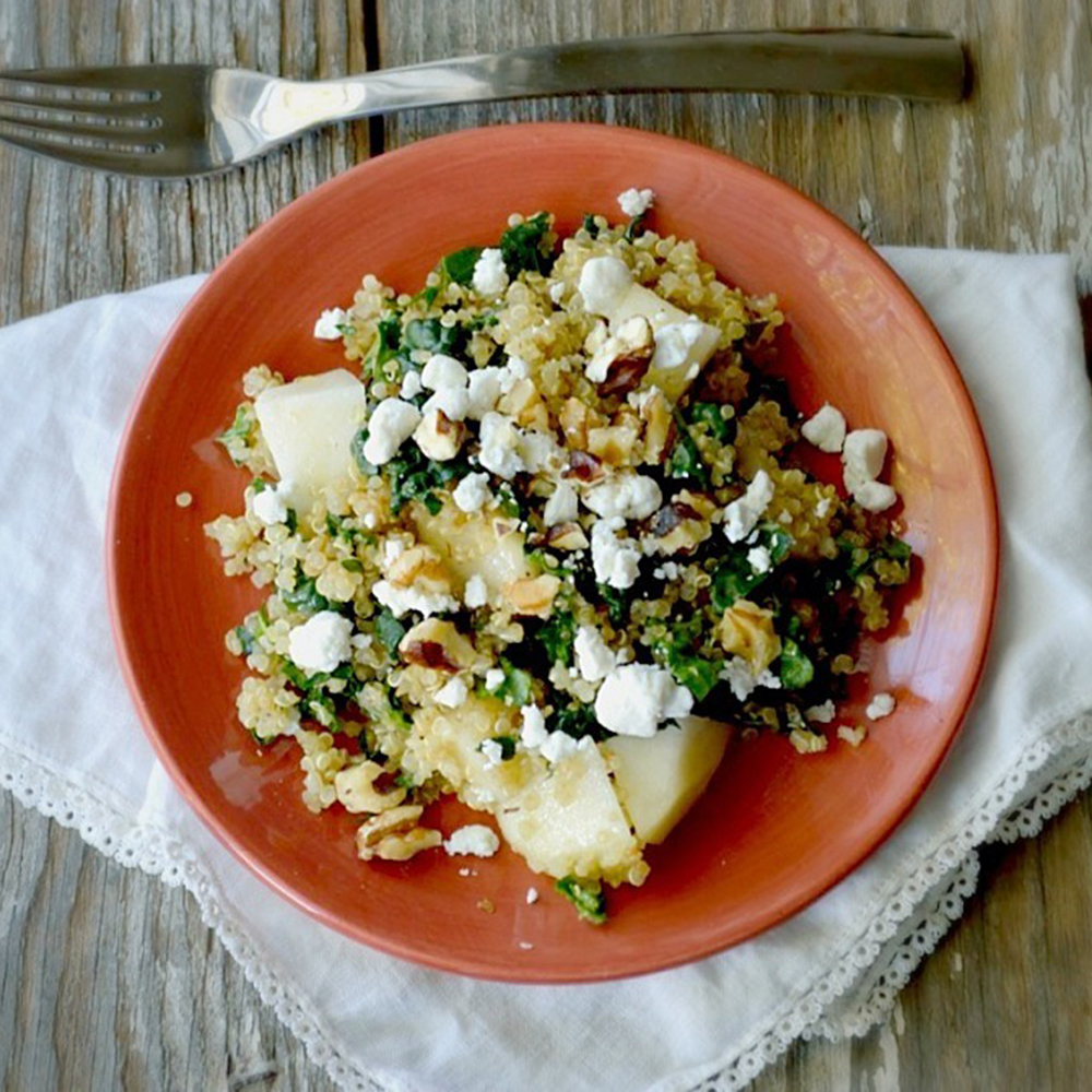 Winter Quinoa, Kale, and Pear Salad