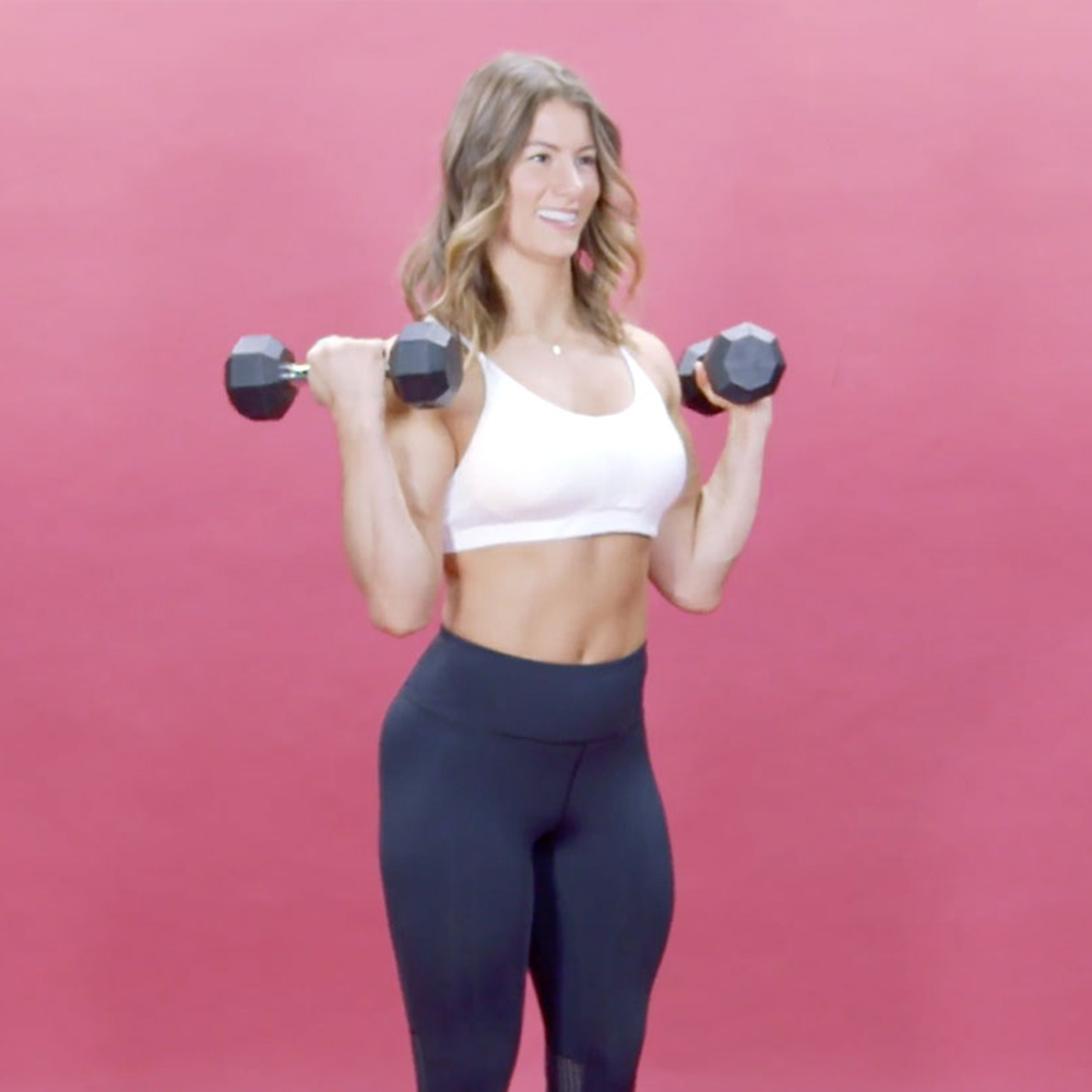 How to Perform the Perfect Biceps Curl, According to Jen Widerstrom