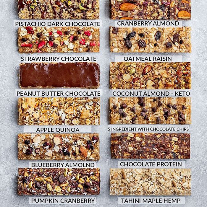 healthy homemade energy bars as a meal-prepped travel snack