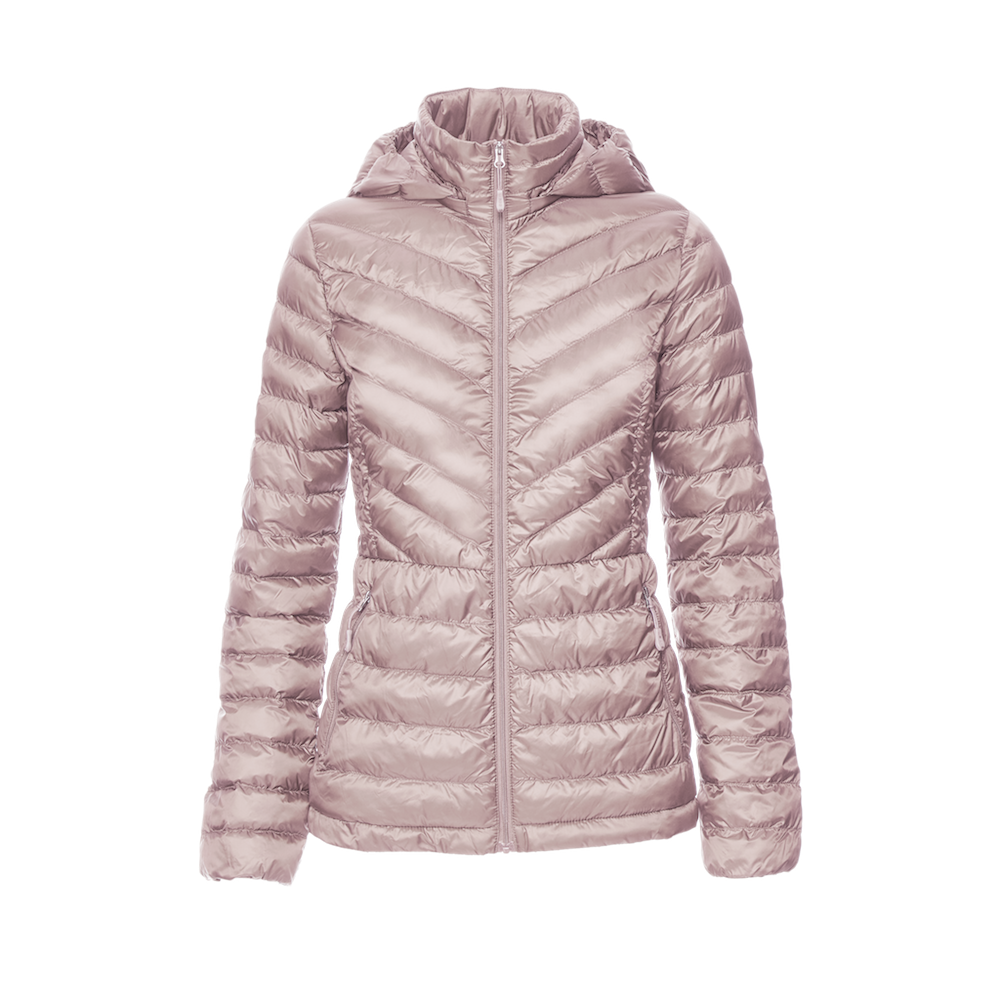 light pink packable puffer jacket