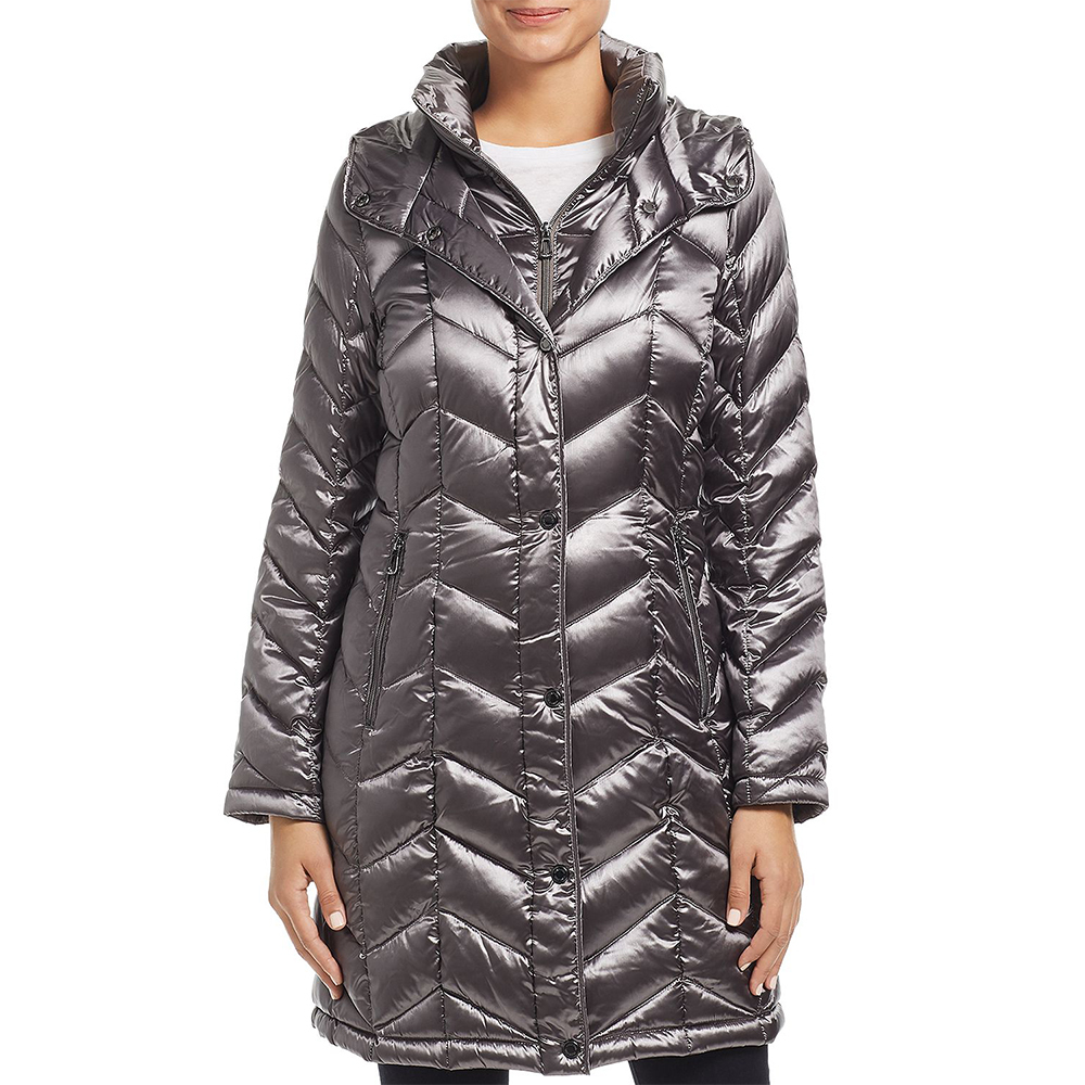 calvin klein long packable puffer down jacket
