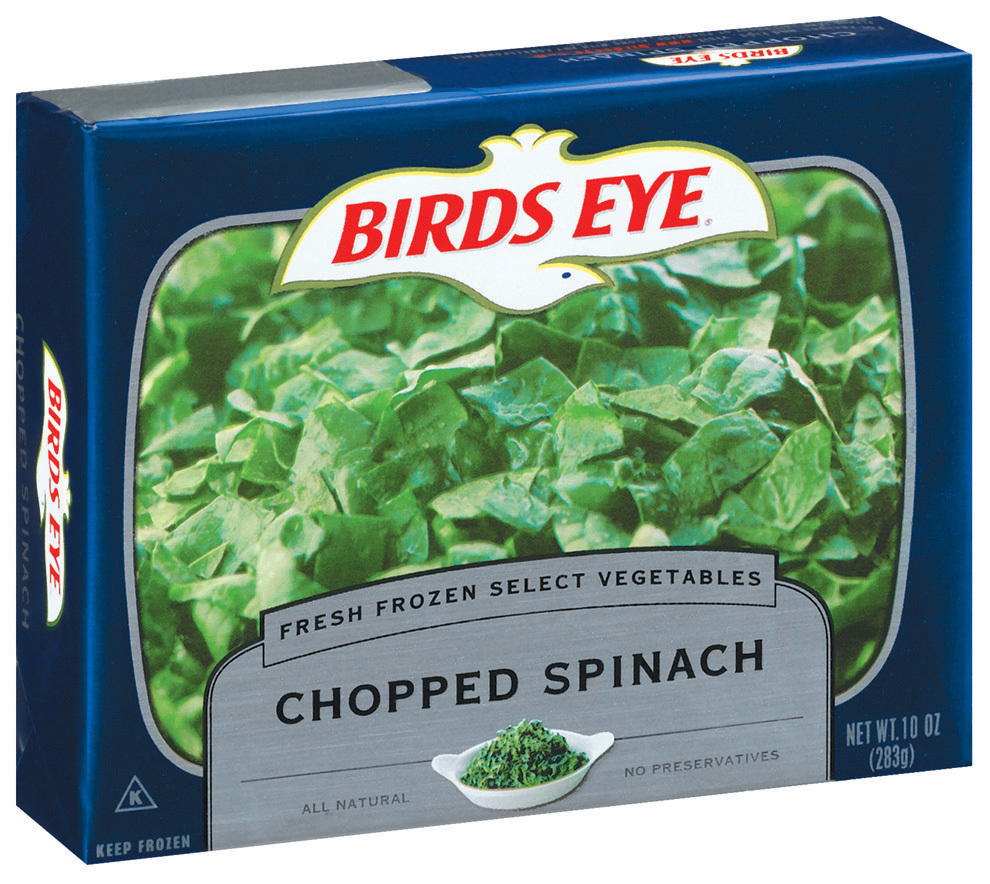 Bird's Eye Chopped Spinach healthy packaged foods