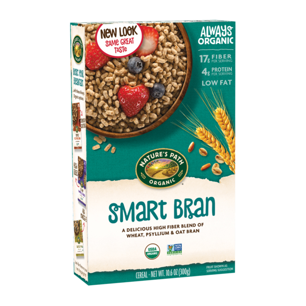 Nature's Path Smart Bran Cereal healthy packaged foods