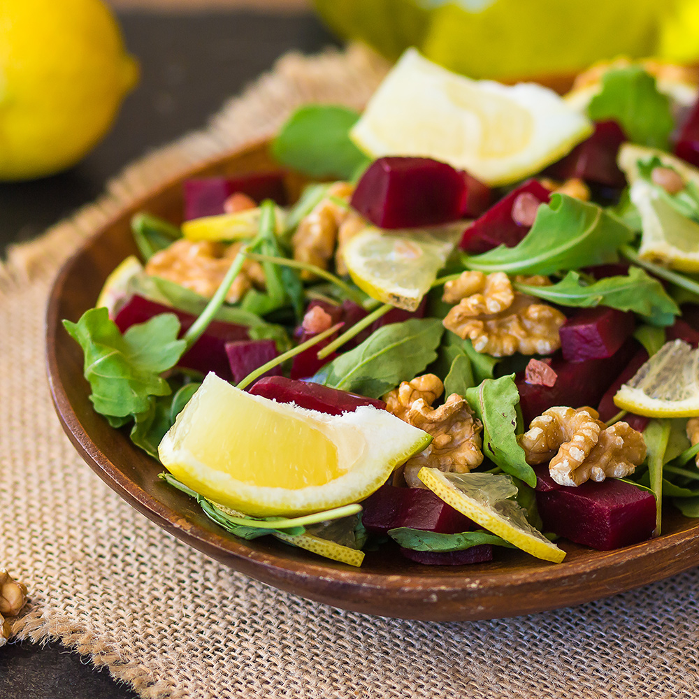 high calorie salad with nuts