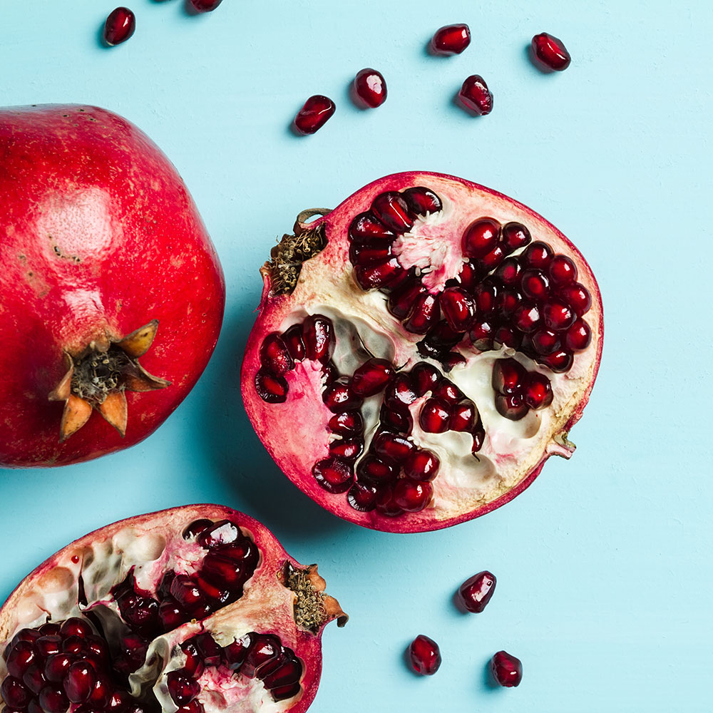 pomegranate seeds as an anti-aging food