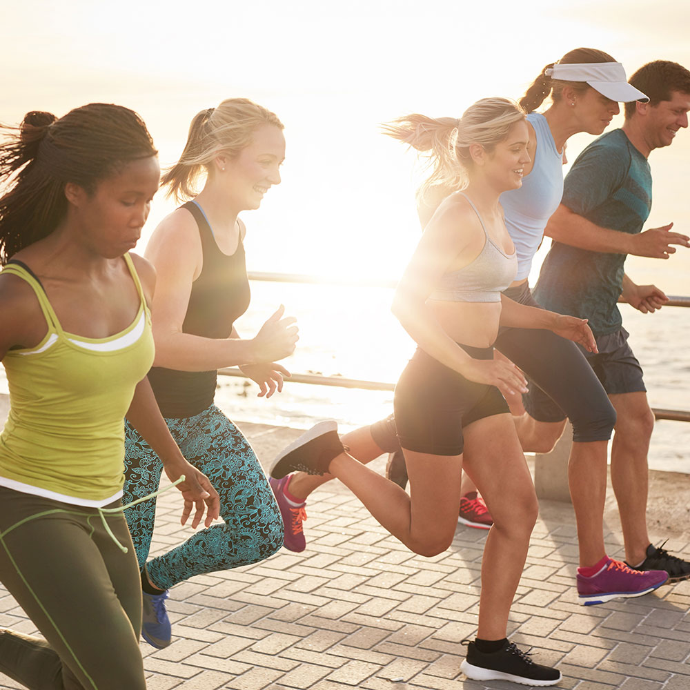 group of people running for exercise and weight loss motivation