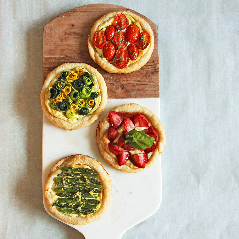 goat cheese tartlets healthy brunch recipe