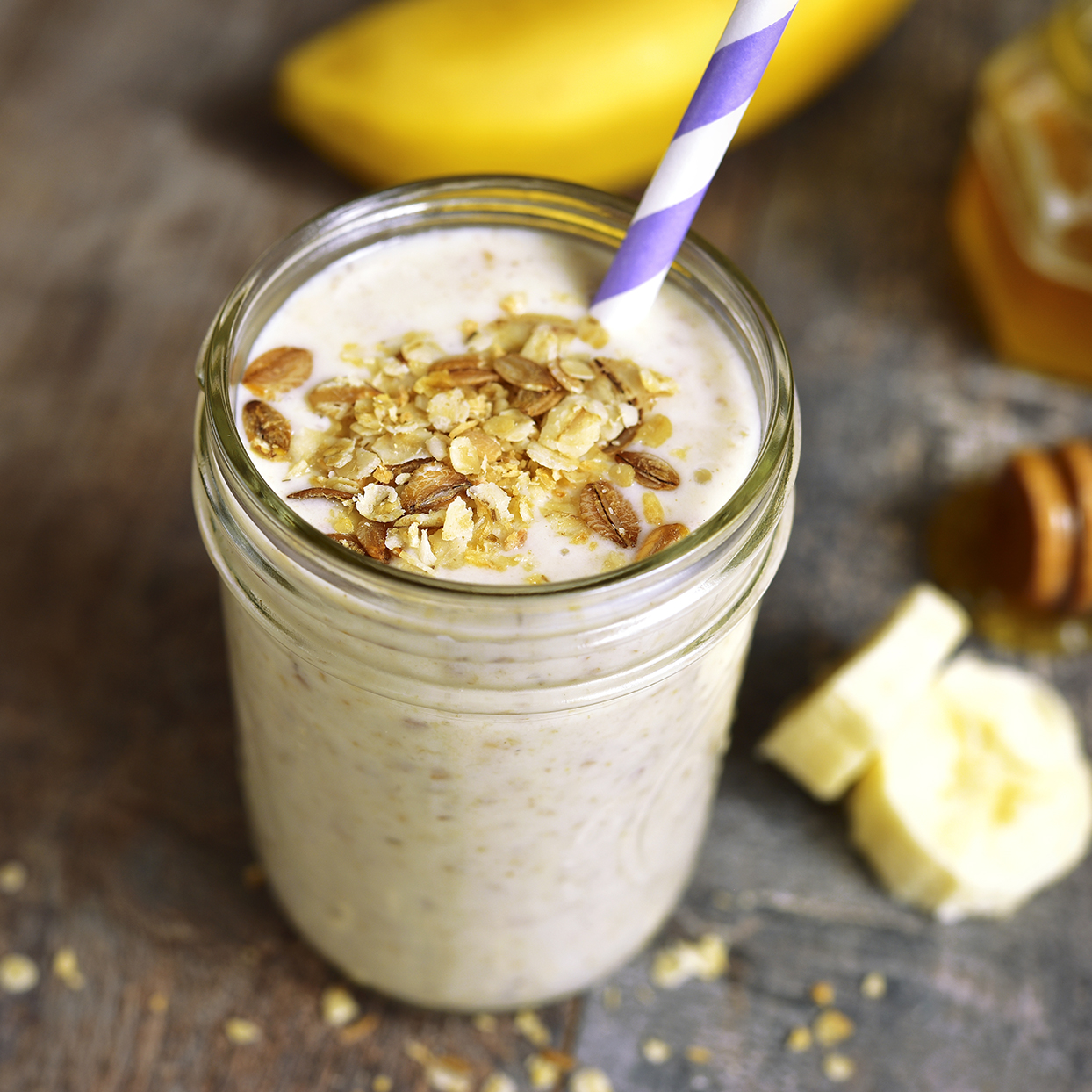 Oats and Banana Protein Smoothie